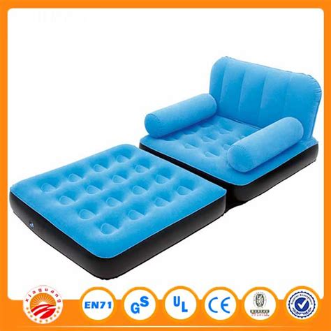 inflatable sofas online 2016 cheap 5 in 1 inflatable folding flock pvc sofa