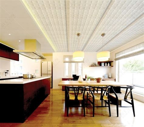 modern ceiling design for dining room and kitchen 3d