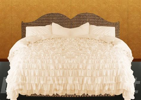 king ruffle comforter king queen twin full cal king new 1000tc waterfall ruffle