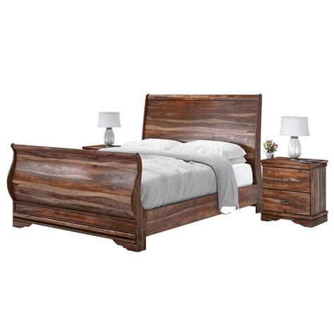 sleigh bed frame sleigh back solid wood king size platform bed frame