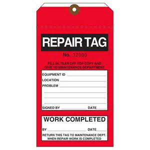 custom printed repair repairable hang tags st louis tag