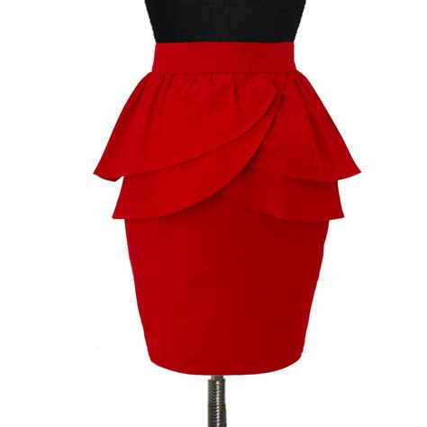 layer peplum pencil skirt with jacket