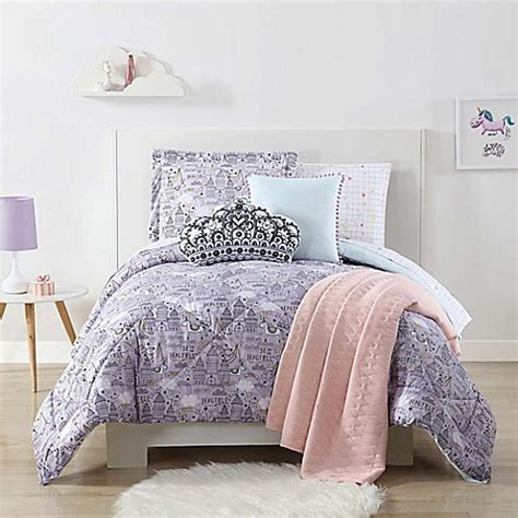 unicorn bedding twin buy laura hart kids unicorn princess twin xl comforter set in purple from bed bath