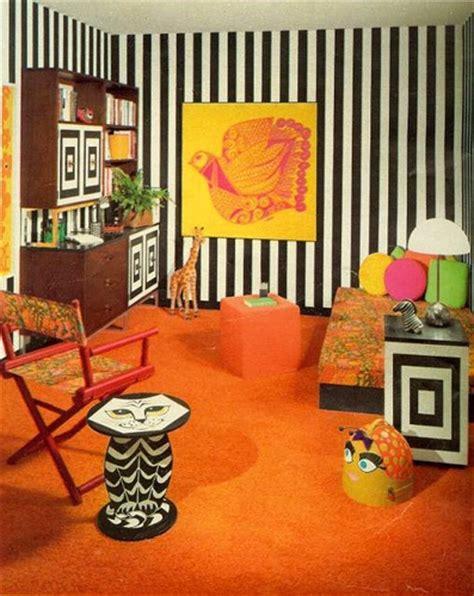 60 s design 60 s bedroom in orange flickr photo