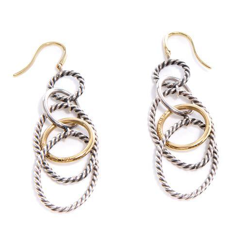 david yurman sterling silver 18k gold mobile earrings 63448