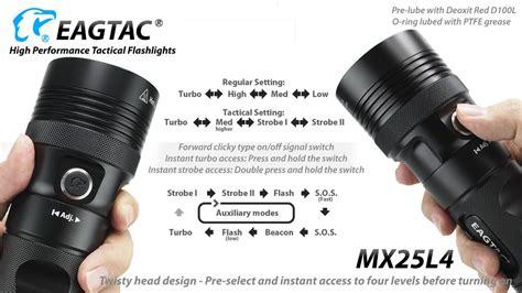 Lu Led Motor Mx New eagletac mx25l4 flashlight luminus led sst 90 or sbt 90 or sbt 70 led new ebay