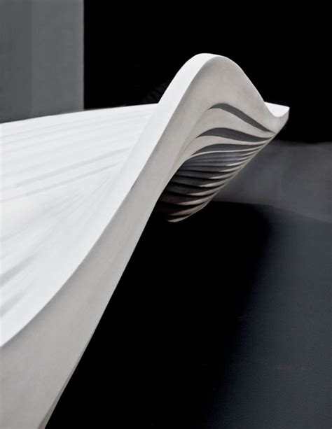 zaha hadid bench zaha hadid s serac bench for lab 23 unveiled at milan design week evolo