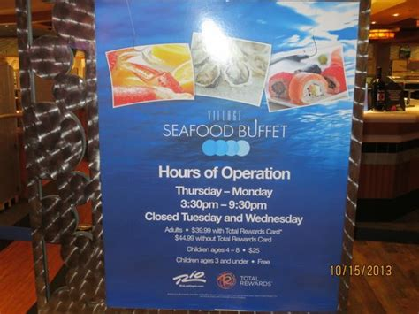 Operating Hours Picture Of Village Seafood Buffet Las Buffet Hours
