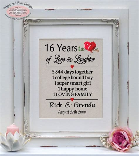 Wedding Anniversary Ideas 16 Years by 1000 Ideas About Wedding Anniversary Gifts On