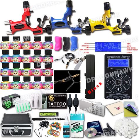 tattoo kits wholesale rotary machine kits huricane power supply 227