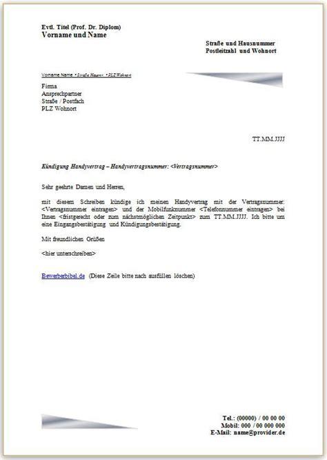 Handyvertrag Kündigen Blau De Vorlage Handyvertrag K 252 Ndigen K 252 Ndigungsschreiben Vorlage Und Muster Mobilfunkvertrag Vorlage Und