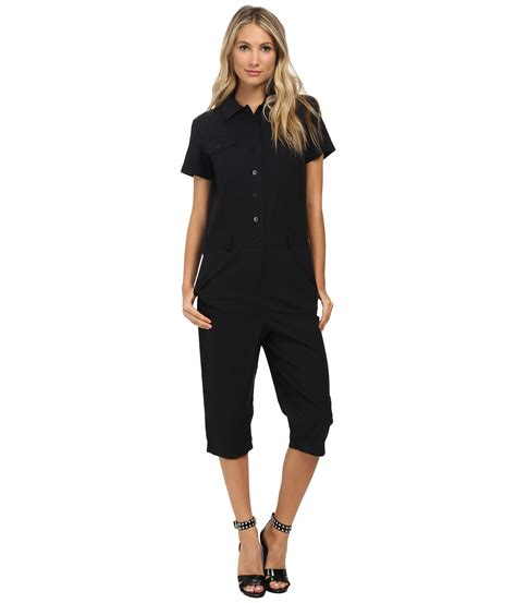 Marc By Marc Safety Net Cotton Shopper by Marc By Marc Summer Cotton Cropped Jumpsuit Black