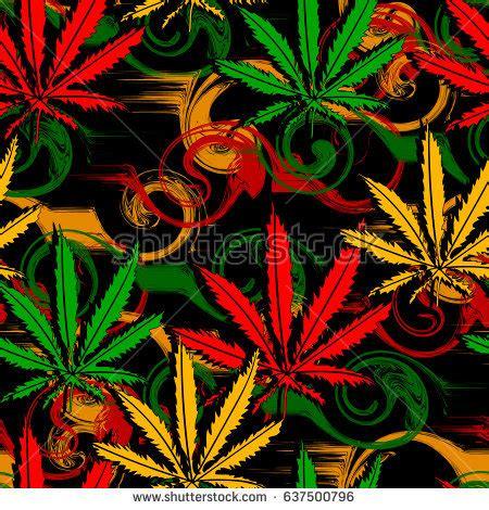 wallpaper design reggae rasta wallpaper abstract seamless pattern marijuana stock