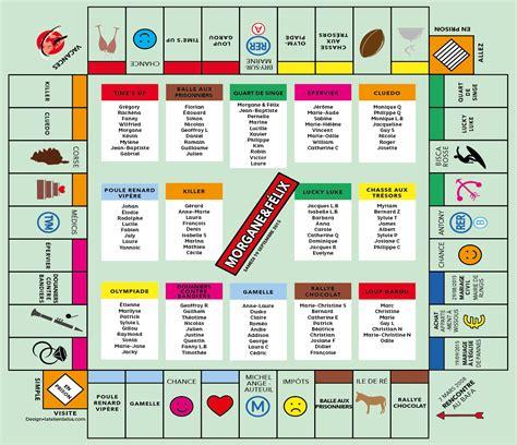 Jeux à Faire à Table Plan De Table Mariage Monopoly Jeux L Atelier D Elsa Faire