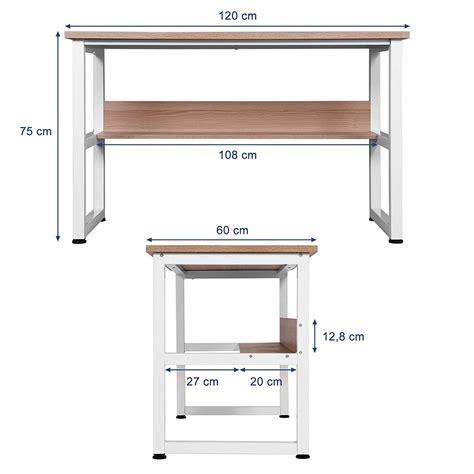 scrivania metallo scrivania per computer adelia misure 120x60x75 in