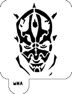 darth maul paint template barber stencils hair designs in 7 minutes mrhairart