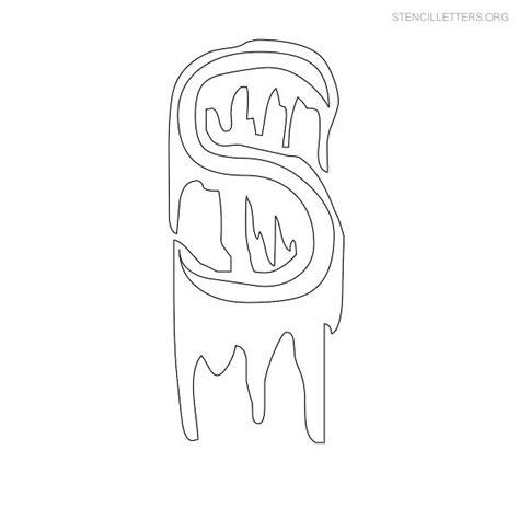printable halloween letter stencils stencil letters s printable free s stencils stencil