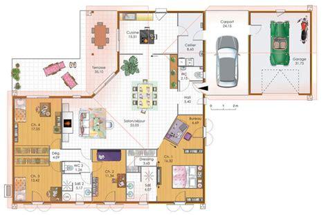 Plan Maison Plein Pied 80m2 plan de maison de 80m2 plein pied 5 maison