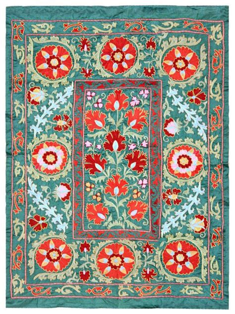 uzbek hand embroidered silk suzani one kings lane 1000 images about suzani on pinterest textiles rugs