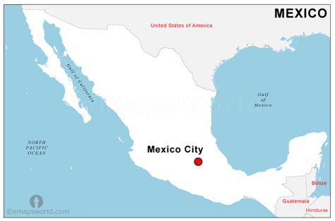 Mexico Capital Map   Capital Map of Mexico