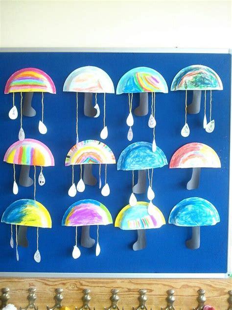 paper plate umbrella crafts  kids  preschool