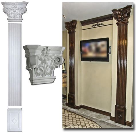 The Decorative Top Of A Column by 9 8 Quot Flute Column Set Scroll Top Flat 111 Quot Fdc 6125