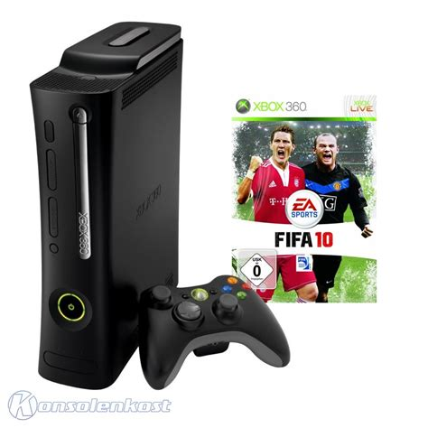 xbox 360 120gb console xbox 360 console elite 120gb black fifa 10 official