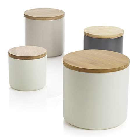wooden kitchen canisters set of 4 silo canisters crate and barrel