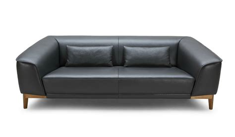 Sirius Plush Two Seater Office Sofa In Leather Boss S Cabin Office Leather Sofa