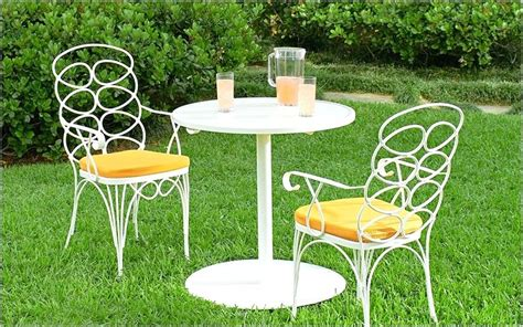 white wrought iron bistro table and chairs white iron table and chairs cast aluminum furniture white