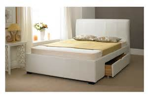 White bed frames with storage shztzc bed and bath