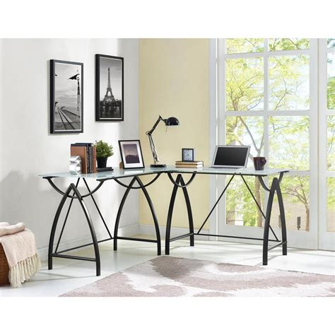 home depot l shaped desk altra furniture parsons desk with drawer in black oak