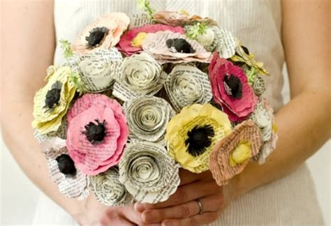 How To Make Recycled Paper Flowers - flowers made from recycled paper recycled things