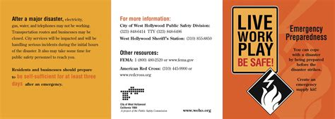 Public Safety Walking Weho Emergency Preparedness Brochure Template