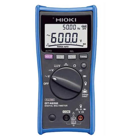 Multimeter Digital Hioki dt4252 hioki dt4252 true rms digital multimeter 1000v