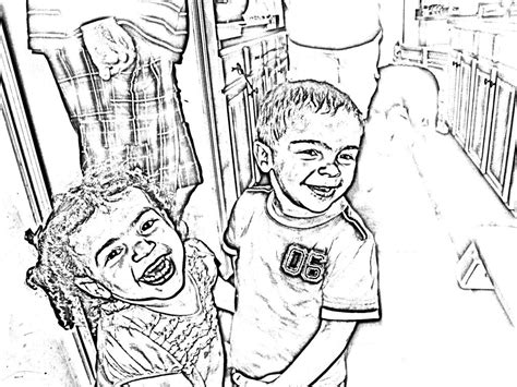 turn your picture into a coloring page for free