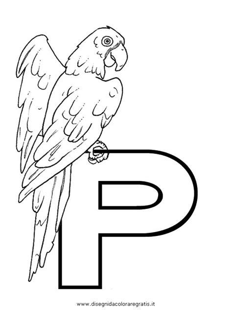 lettere alfabeto da disegnare disegno alfabeto pappagallo categoria alfabeto da colorare