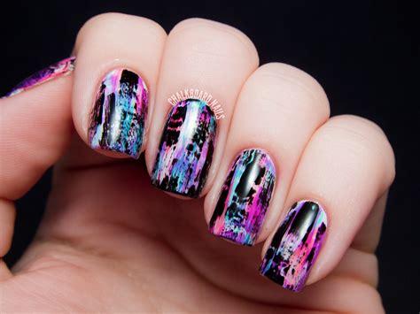 nail art design yagala tutorial distressed nail art punk grungy effect
