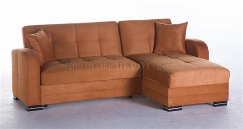 kubo sectional kubo sectional sofa bed in rainbow orange fabric by sunset