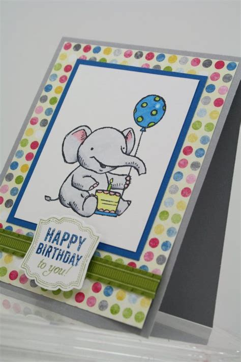 Handmade Stin Up Cards - happy birthday elephant handmade card stin up