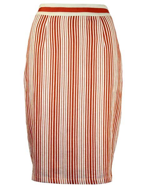 fever barbican retro 1960s linen stripe ribbon band pencil