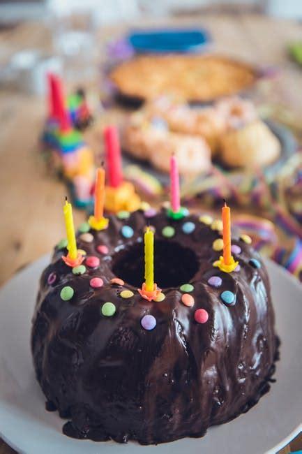 stock photo  baked birthday birthday cake