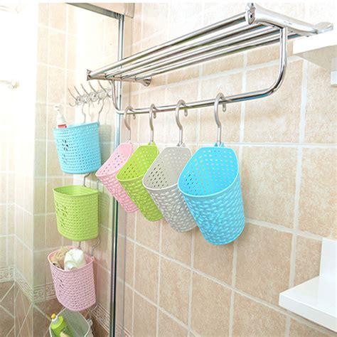 Soft weaving plastic vehicle car gathering basket bathroom shower hanging basket with hook