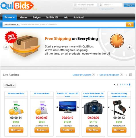 best auction websites quibids reviews qui bids auction scam