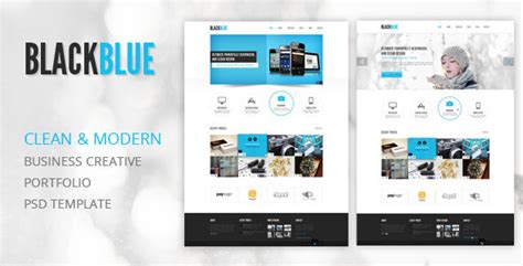 Blackblue Creative Portfolio Psd Template By Tendosk8er Themeforest Ui Designer Portfolio Templates