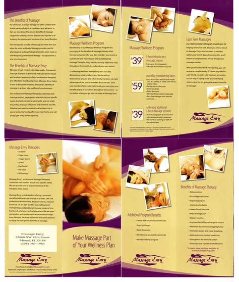 the usa savings club llc massage envy brochure
