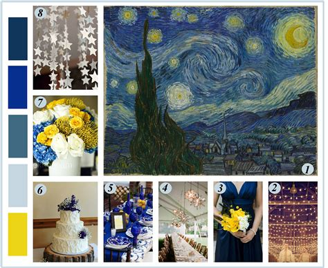 mood board monday inspiration from van gogh s starry