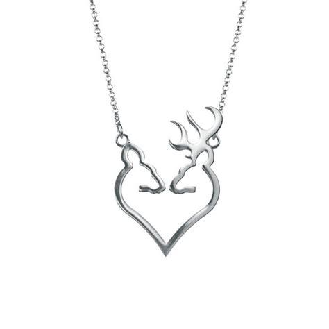 browning buckmark silver doe necklace