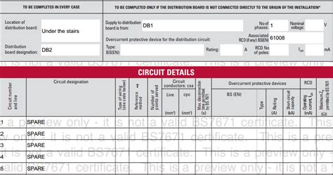 distribution board circuit chart template remote boards niceic elecsa support
