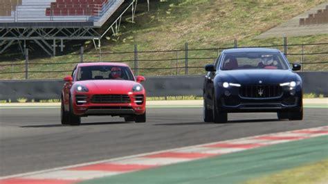 porsche maserati battle porsche macan turbo vs maserati levante s racing at